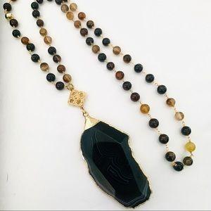 Boswana Agate Pendant Necklace
